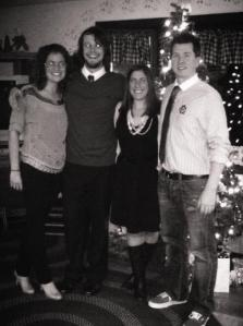 Mahoney boys and Gagnon girls. Wouldn't be Christmas Eve without this crew!