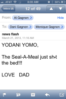email from dad