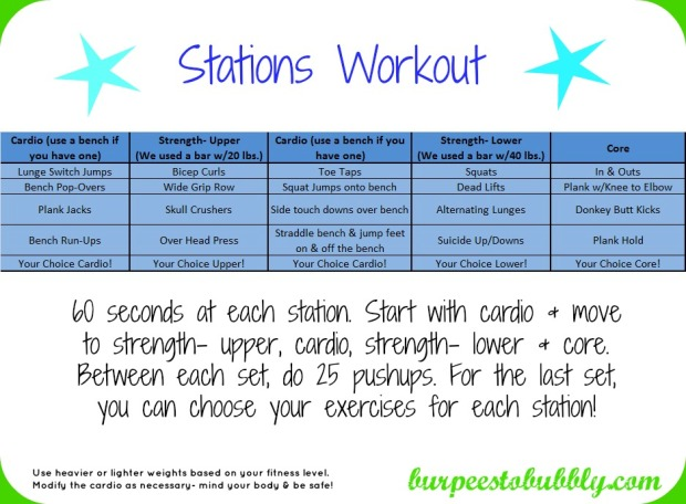 Stations workout