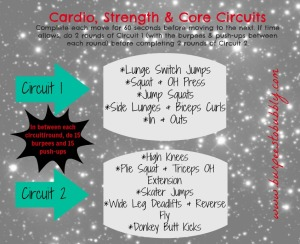 Cardio, strength & core circuits