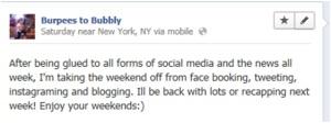 social media break