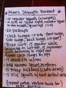 mom's workout