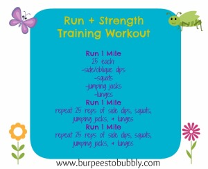 run + strength training