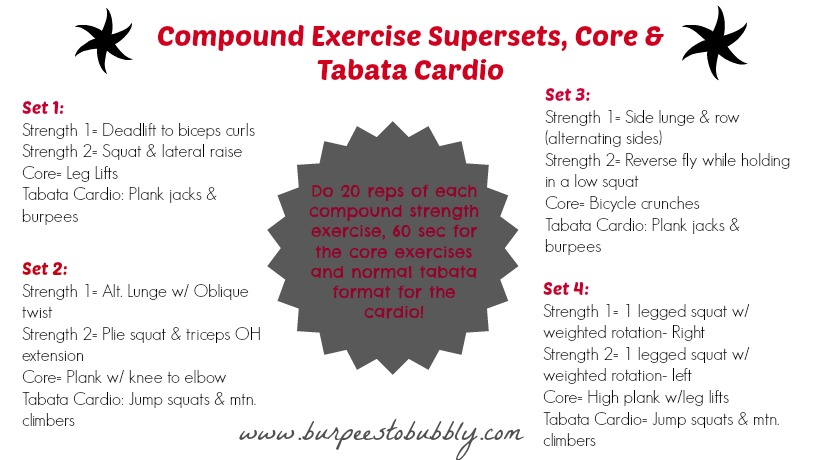 compound exercises – Burpees to Bubbly