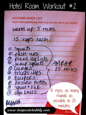 Hotel Room Workout #2