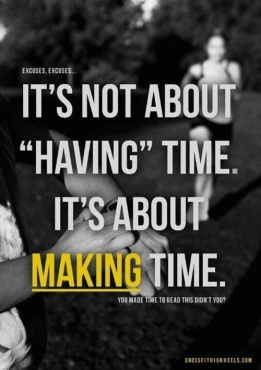 it's not about having time