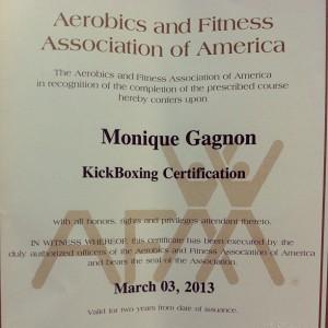 kickboxing cert