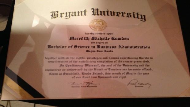 Meredith diploma