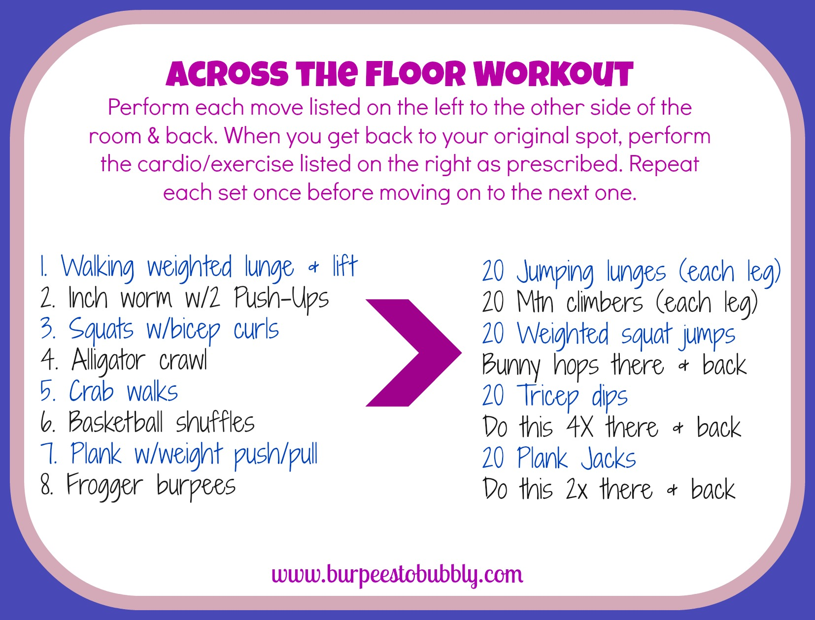 Wednesday workout across the floor workout burpees to for Floor workout