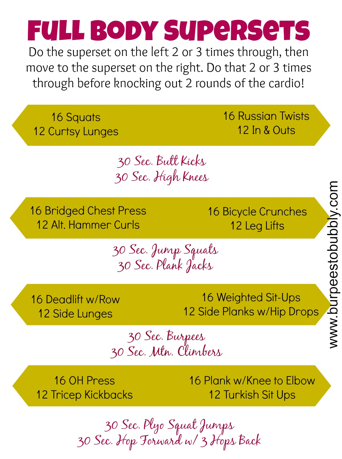 Wednesday Workout: Full Body Supersets Workout – Burpees ...