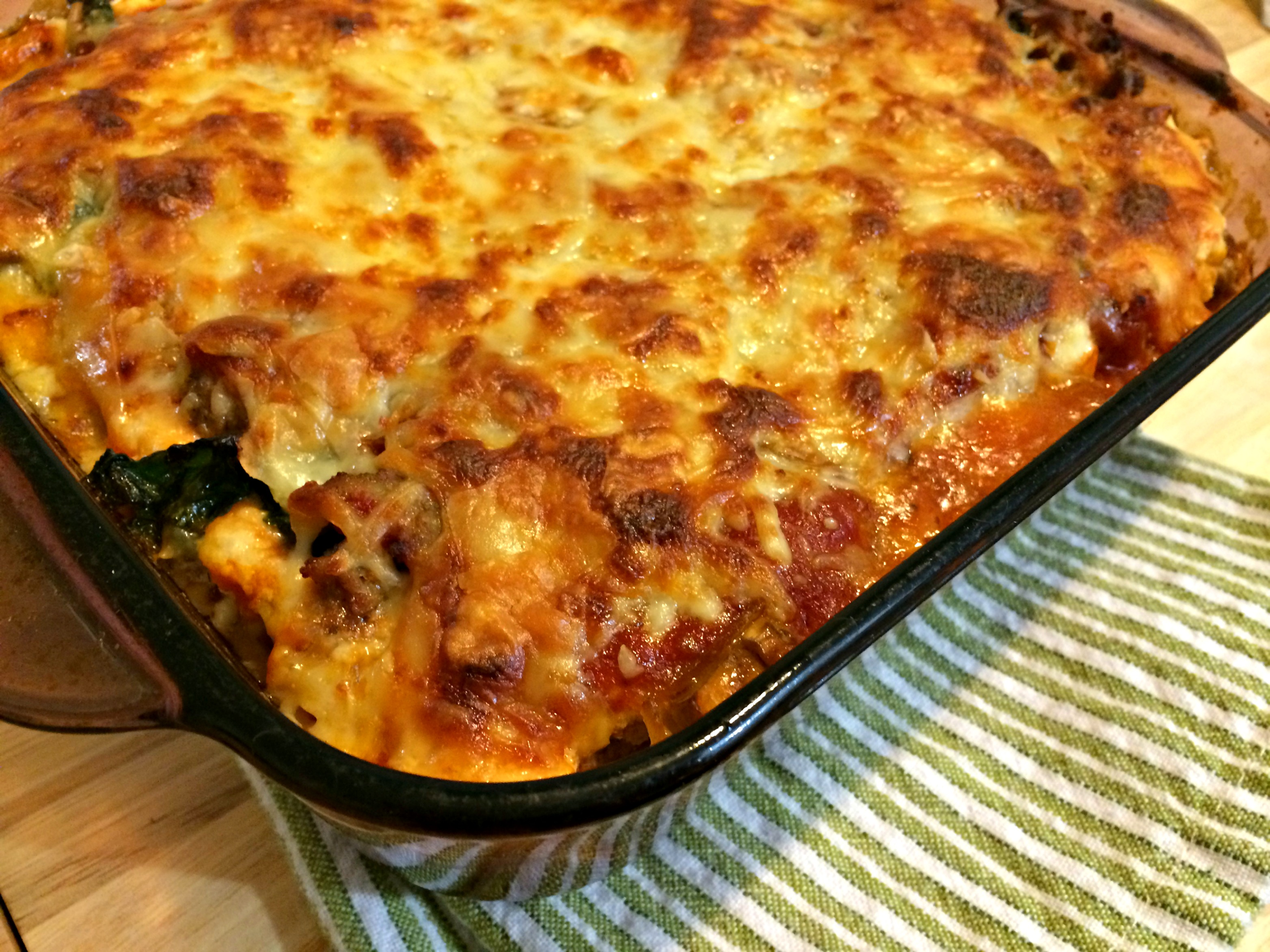 How To Make Lasagna With Beef Wine Caramelized Onions Mushrooms And ...