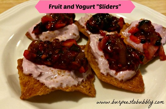 fruit and yogurt sliders