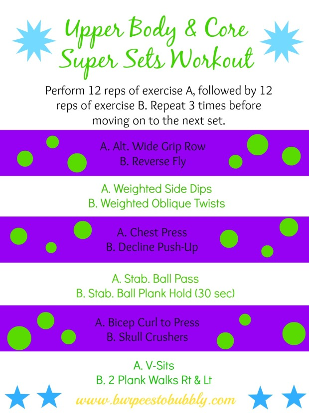 Upper Body & Core Super Sets Workout