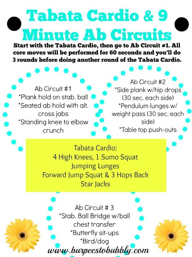 Tabata Cardio & 9 Min. Ab Circuits