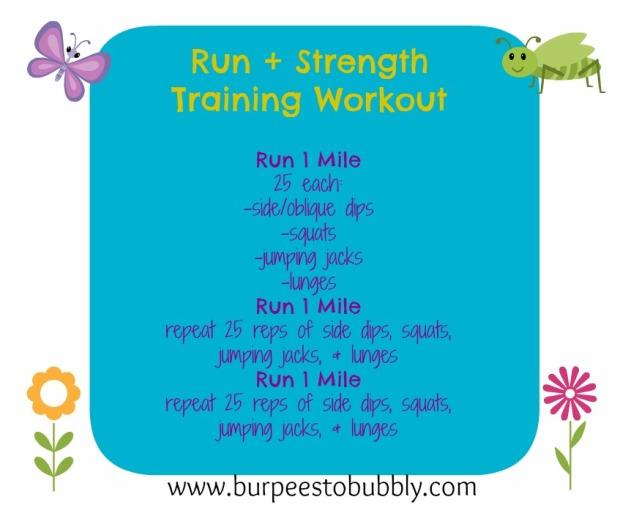 run + strength training