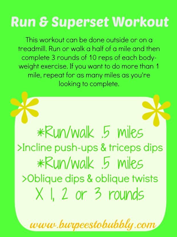 run-walk superset