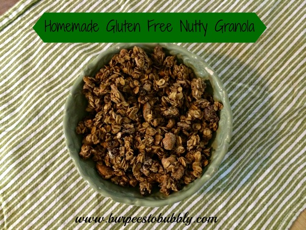 Homemade gluten free nutty granola