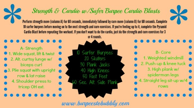 strength and cardio w. surfer burpees
