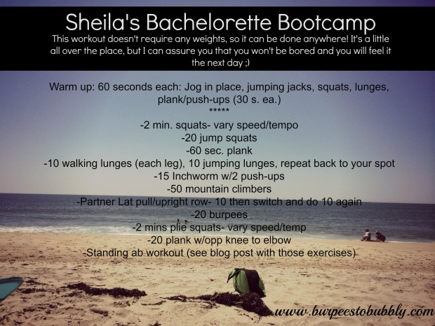 sheila's bachelorette bootcamp