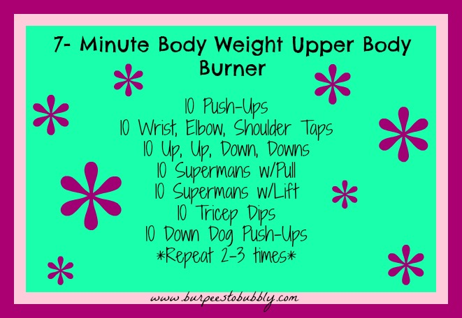 Wednesday Workout: 7 Minute Body Weight Upper Body Burner ...