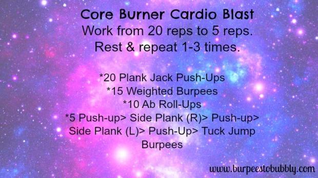 Core burner cardio blast