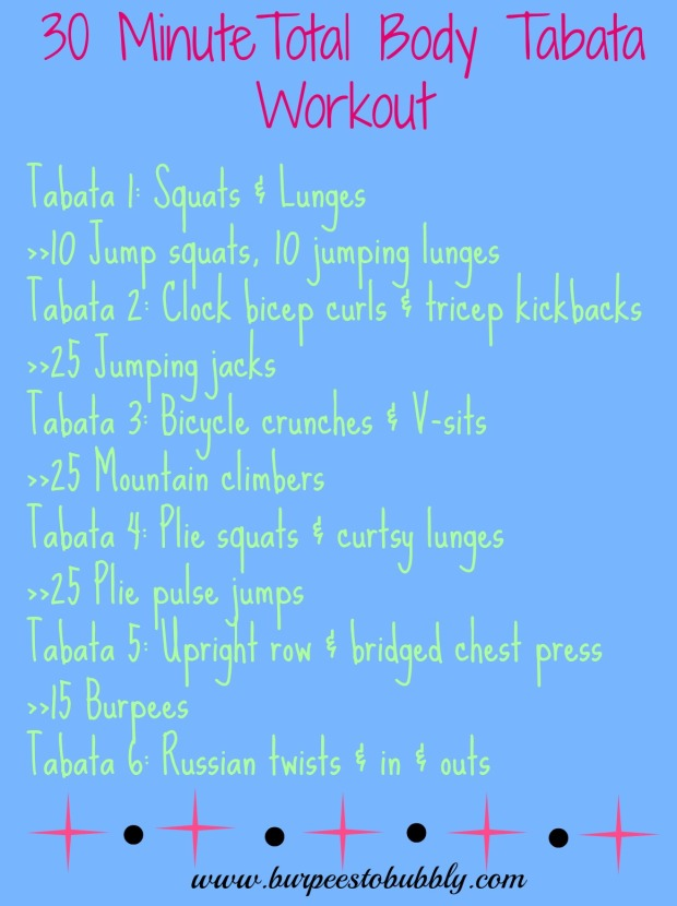 30 minute total body tabata workout