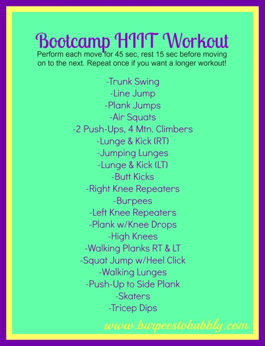 Bootcamp HIIT Workout