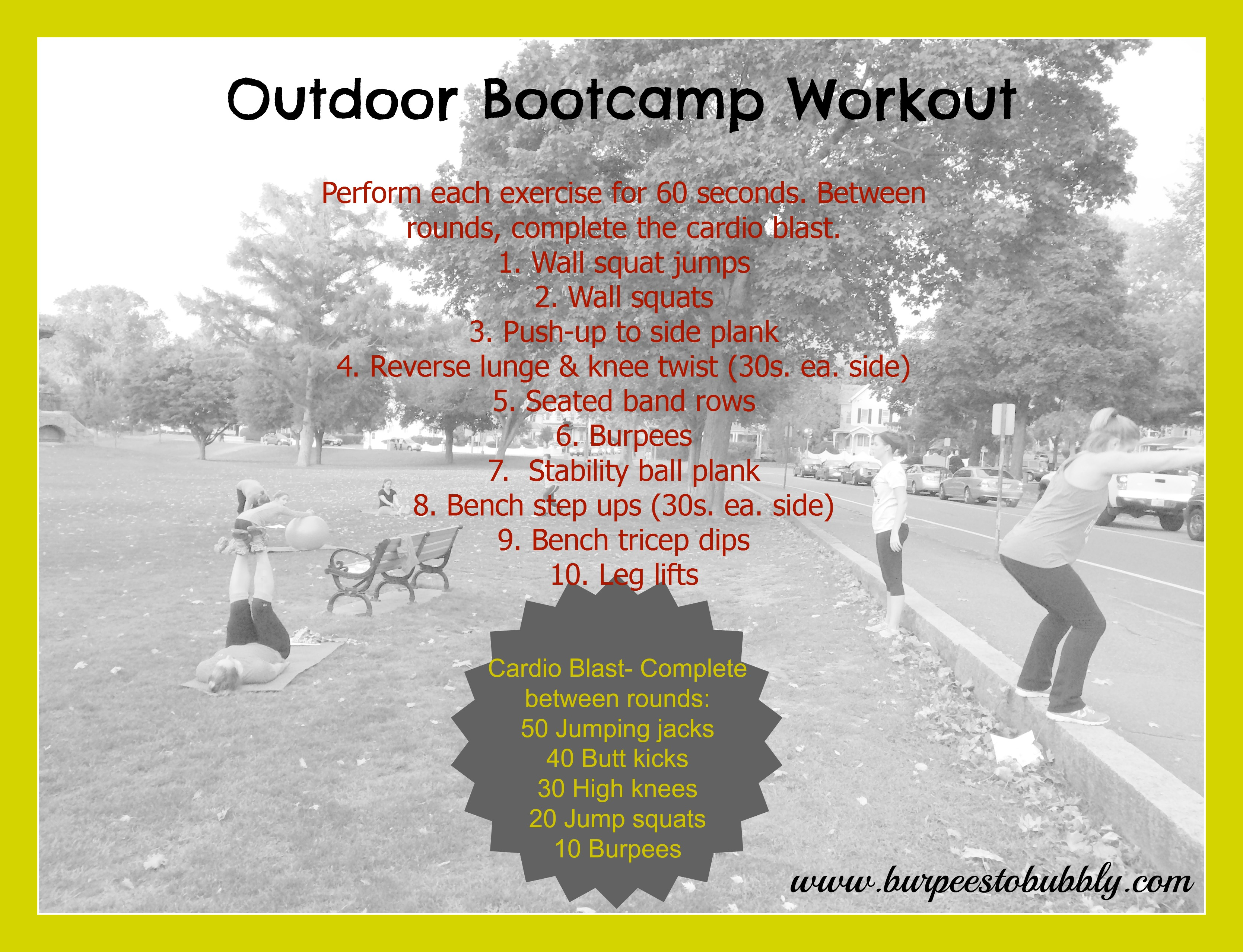 Wednesday Workout: Outdoor Stations Bootcamp Workout ...