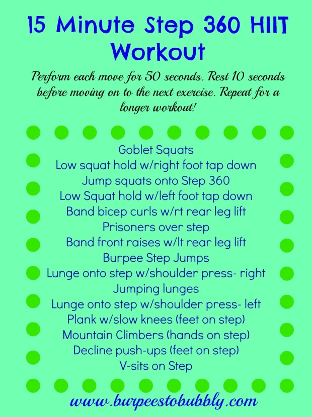 15 minute Step 360 HIIT workout