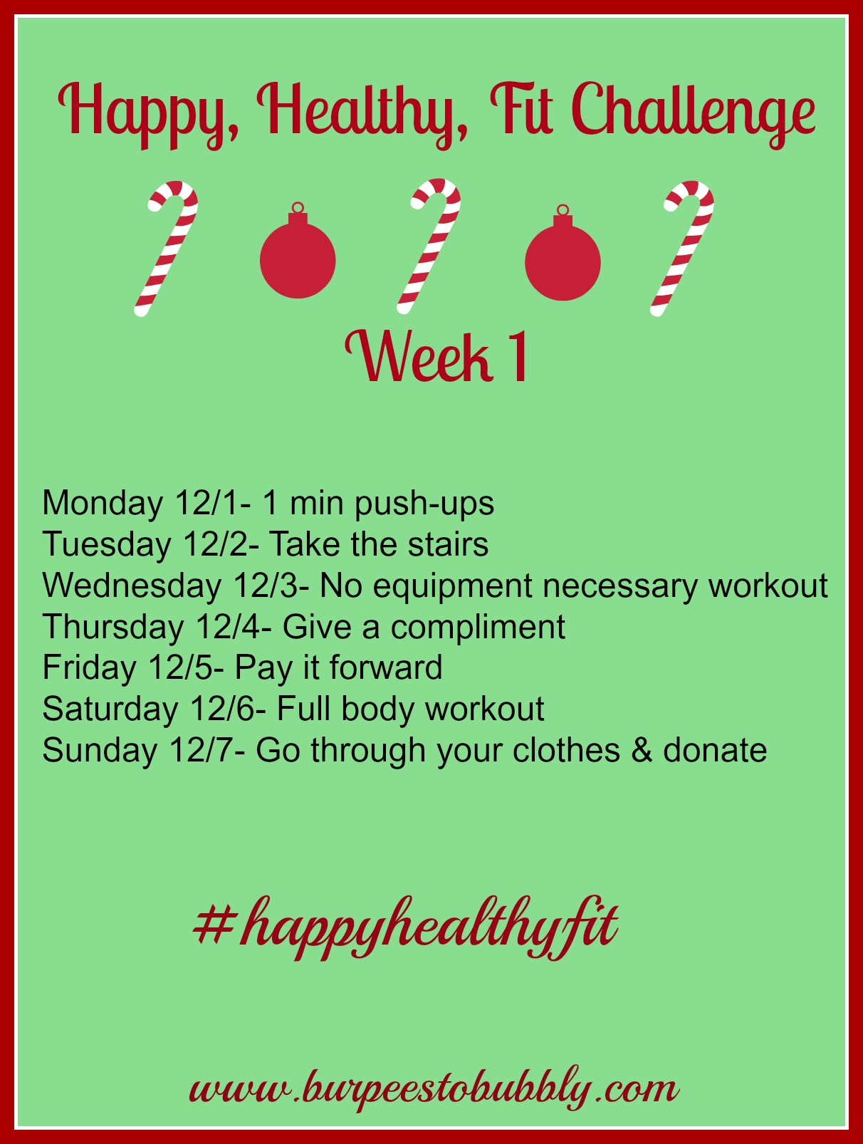 Happy, Healthy, Fit: Week 1 '�  Burpees To Bubbly