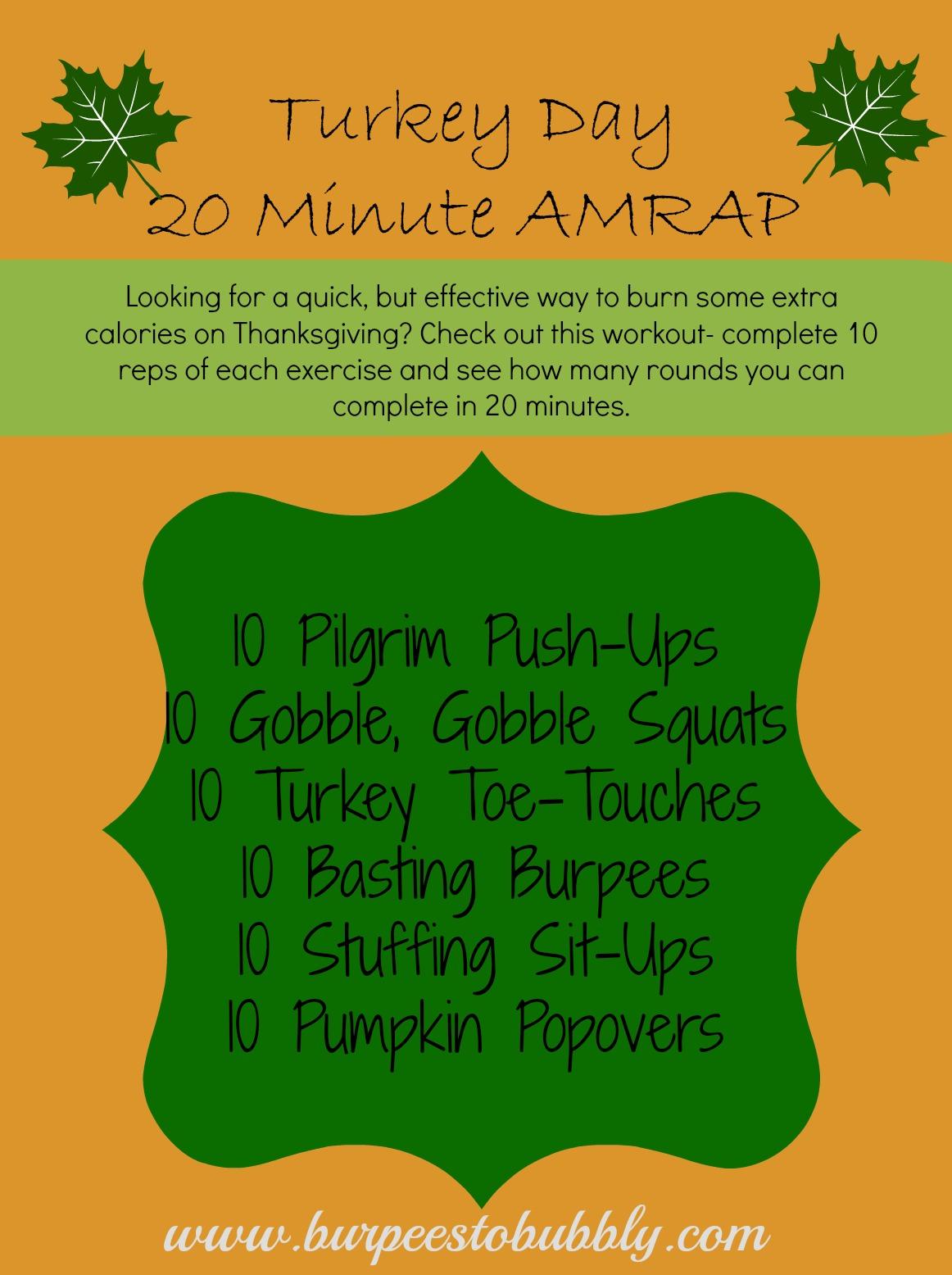 Turkey Day Hercules Style: Wednesday Workout: Turkey- Day 20 Minute AMRAP Workout