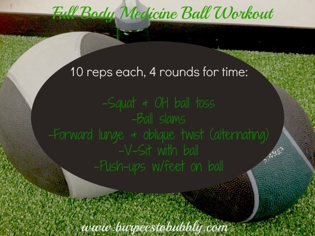 Full body medicine ball workout