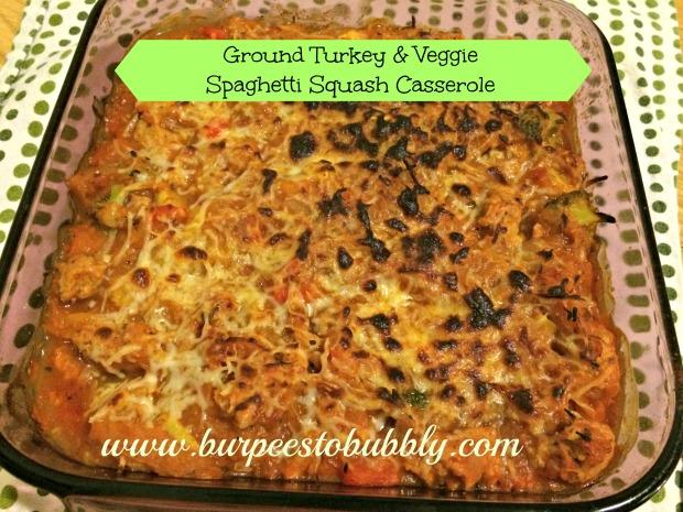 ground turkey & veggie spaghetti squash casserole