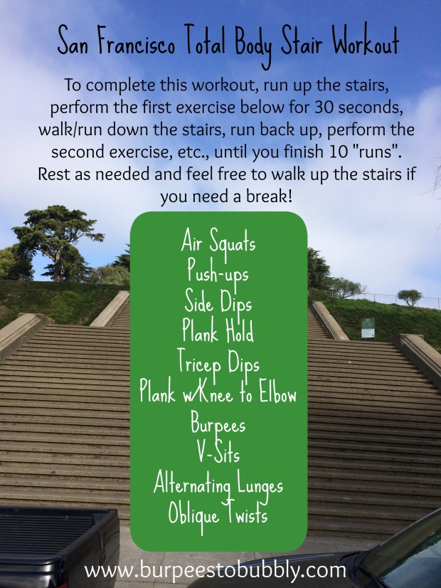 San Francisco Total Body Stair Workout