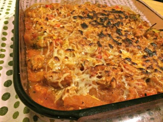 spaghetti squash casserole 1