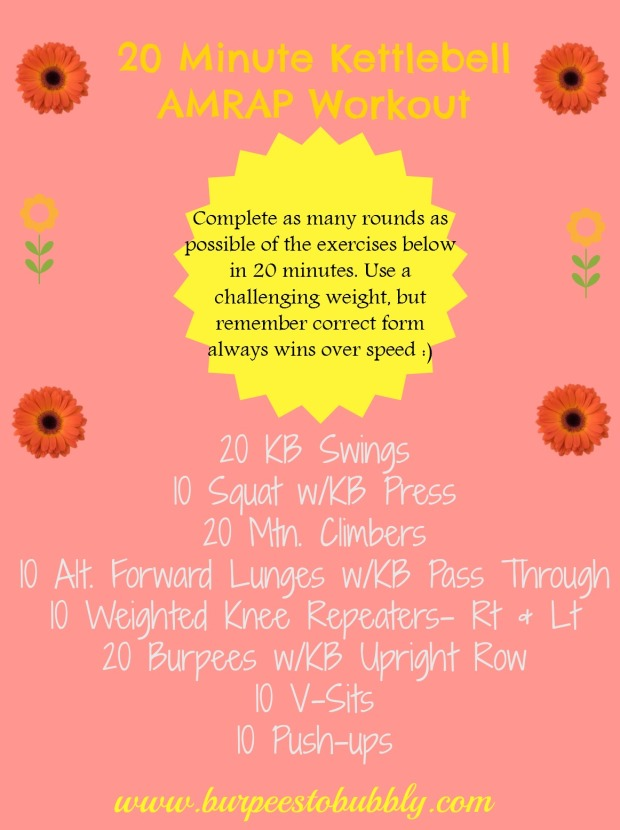 20 minute KB AMRAP workout
