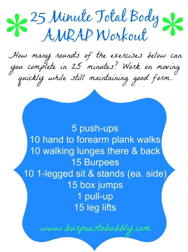 25 minute total body AMRAP workout