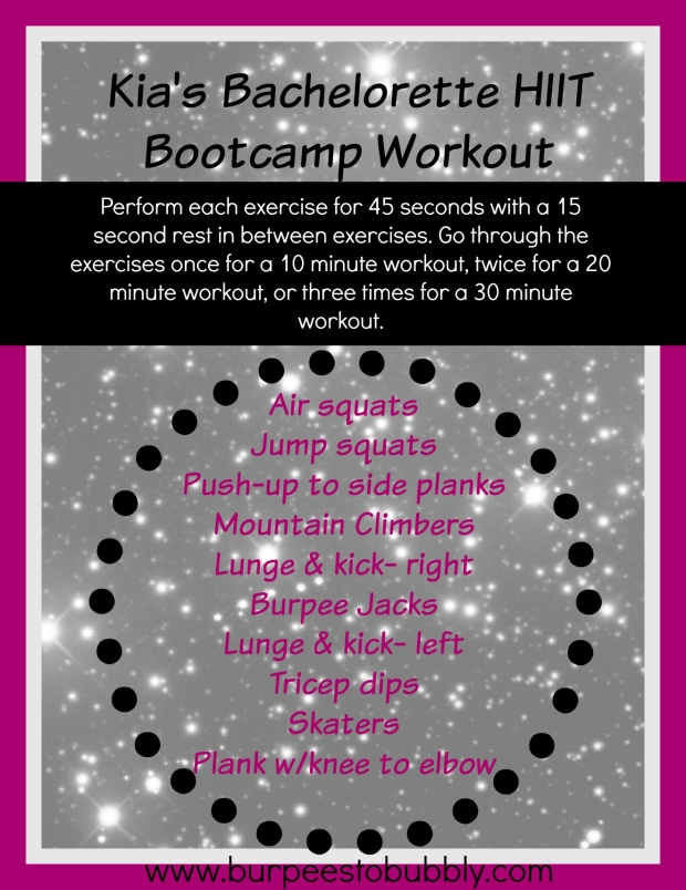 kia's bachelorette HIIT bootcamp workout