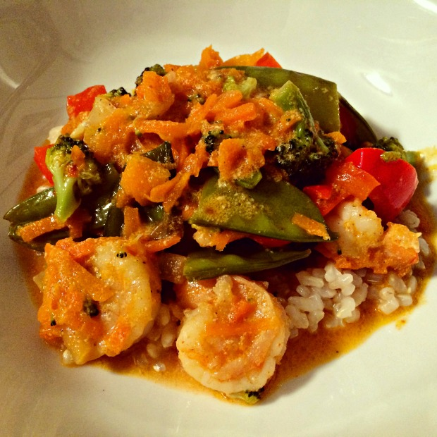 shrimp & veggie curry dish 2