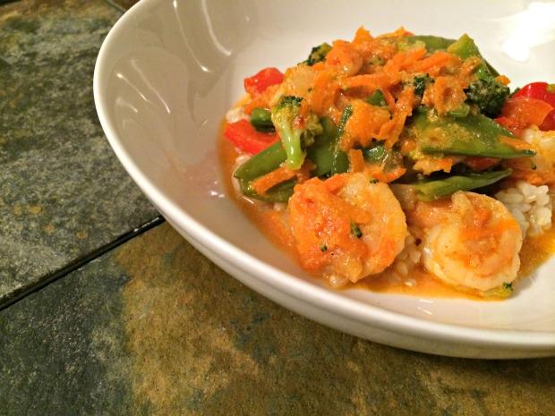 shrimp & veggie curry dish 3