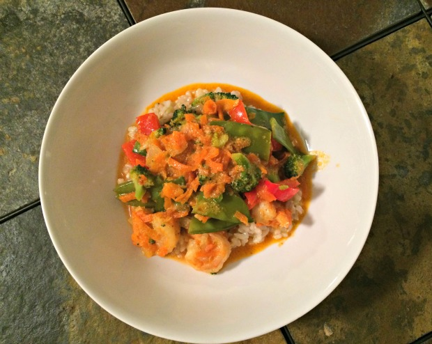 shrimp & veggie curry dish 4