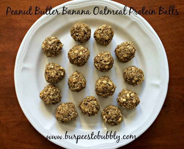PB banana oatmeal protein balls 1