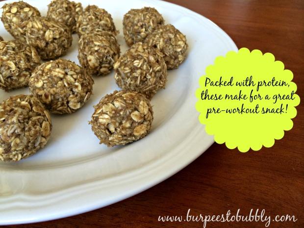 PB banana oatmeal protein balls 3