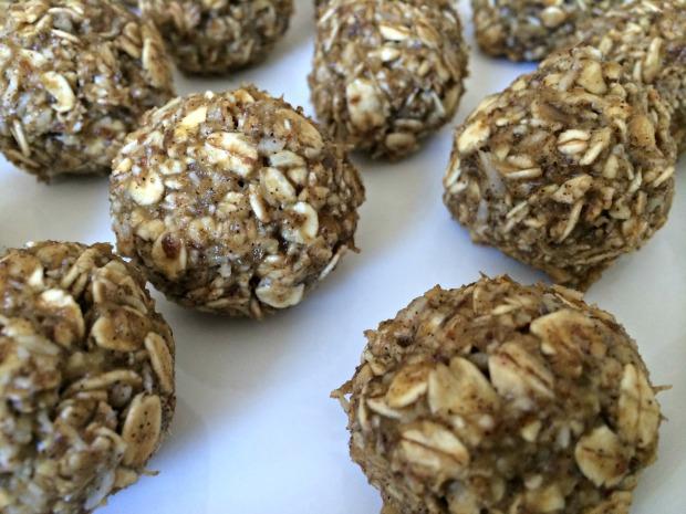 PB banana oatmeal protein balls 5