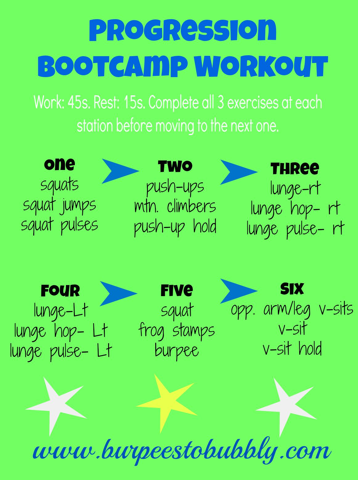 Wednesday Workout  Progression Bootcamp Stations  U2013 Burpees