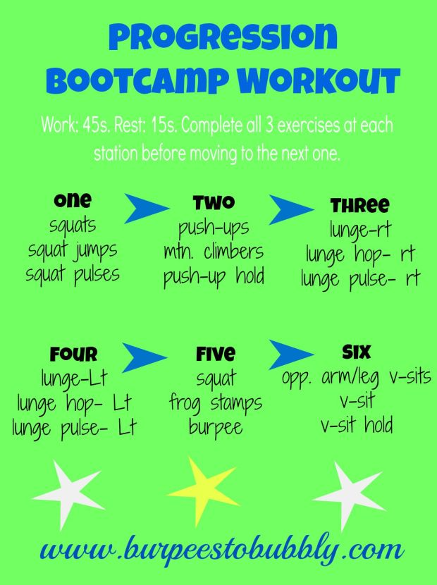 Progression Bootcamp Workout