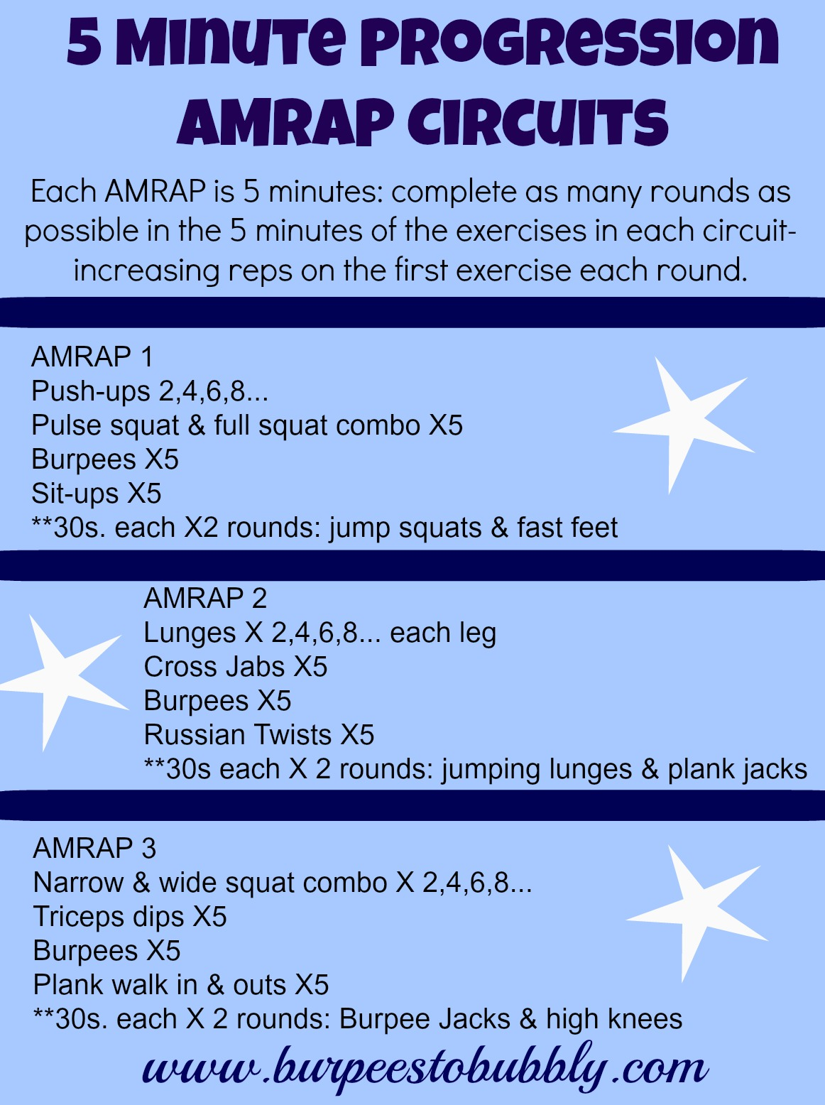 Wednesday Workout: 5 Minute Progression Bodyweight AMRAP