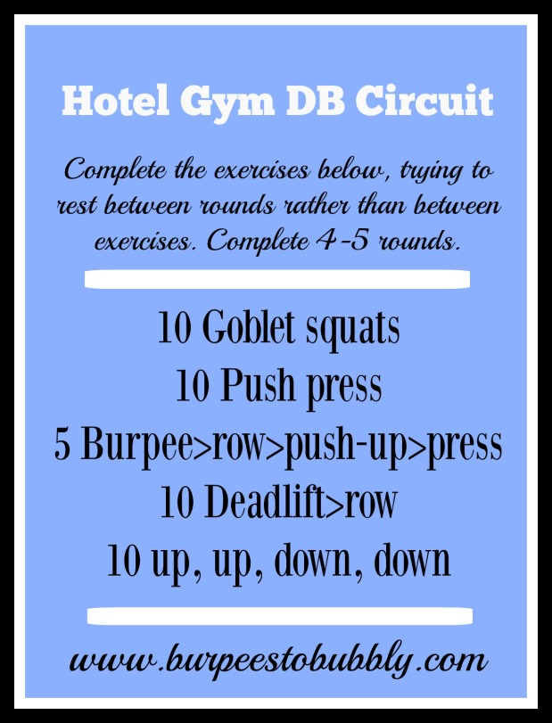 Hotel gym DB circuit