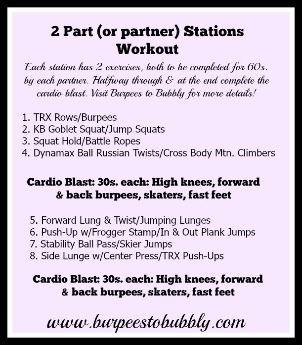 2 part or partner stations workout