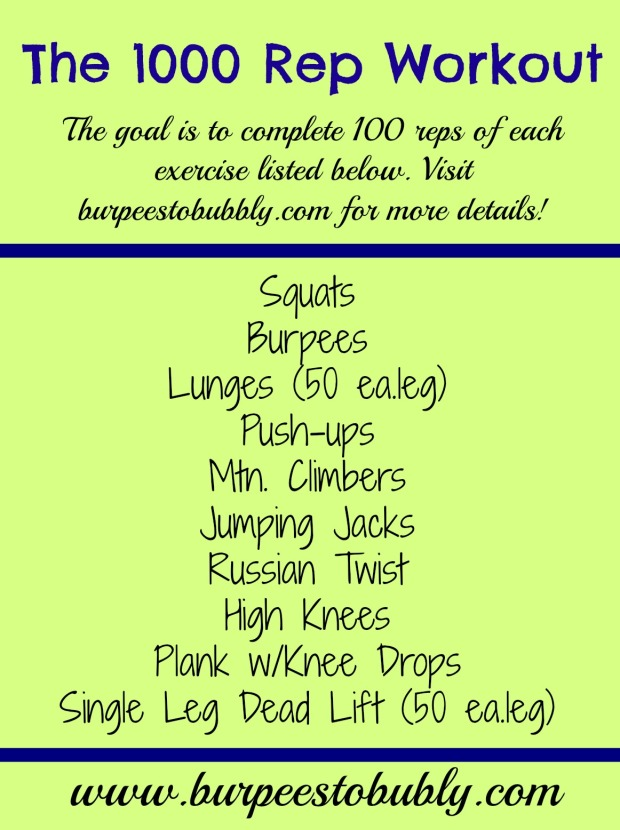 the 1000 rep workout